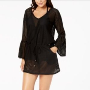 Cover -Up Sheer Bell-Sleeve